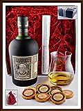 Ron Botucal Reserva Exclusiva Geschenk Set mit 9 DreiMeister Edel Schokoladen & 1 Original Glencairn Glas, kostenlose Lieferung