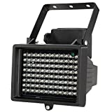 KKmoon 96 LED IR Illuminatore Infrarossi a Raggi Array Lampade Visione Notturna Illuminatori Infrarossi Esterna Impermeabile per CCTV Telecamera di Sicurezza Nero
