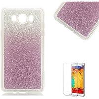 Samsung Galaxy A5 2015 Custodia,Funyye Glitter Brillare Porpora Graduale Cambiano