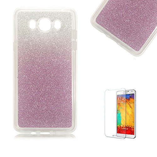 Samsung Galaxy J7(2015) Telephone Portable Coque,Samsung Galaxy J7(2015) Bling Glitter Sparkles TPU Coque,Funyye Luxe Ultra Mince Slim Flexible Souple Soft Gel TPU Silicone Case Cover Coque Housse Changement Graduel Coloré Shiny Skin Protection Anti Scratch de Protection Frontière Case Cover pour Samsung Galaxy J7(2015) + 1 x Gratuit Protecteur D'écran