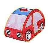 MagiDeal Kinder Spielzeugauto Spielzelt Indoor-Outdoor-Pop Up Spielzelt Haus Spielzeug Rot