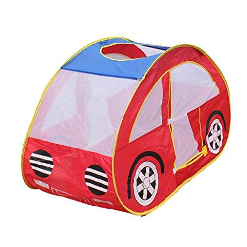 Preisvergleich Produktbild MagiDeal Kinder Spielzeugauto Spielzelt Indoor-Outdoor-Pop Up Spielzelt Haus Spielzeug Rot