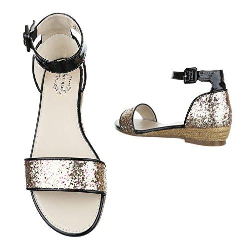 Ital-Design, Sandali donna Gold