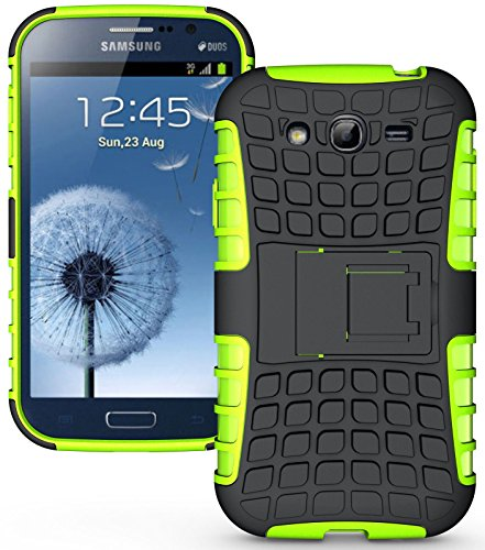 Heartly Flip Kick Stand Hard Dual Armor Hybrid Rugged Bumper Back Case Cover For Samsung Galaxy S3 S 3 i9300 - Green  available at amazon for Rs.399