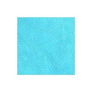 LamaLi - Papier népalais lokta lamaLi à pois blanc sur turquoise - 80 gr/m2