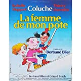 LA FEMME DE MON POTE Affiche de film - 40x60 cm. - 1983 - Coluche, Isabelle Huppert, Bertrand Blier