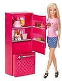 Barbie Puppe CCX04 mit Glam Kühlschrank 10 Teile