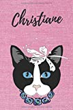 Christiane Notizbuch Katze / Malbuch / Tagebuch / Journal / DIN A5 / Geschenk:...