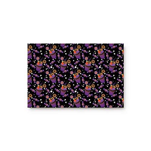 Kinhevao Halloween Kürbiskuchen und Süßigkeiten zu Hause Bad Dusche Schlafzimmer Matte WC Boden Fußmatte Teppich Teppich Pad Fußmatte Badematte