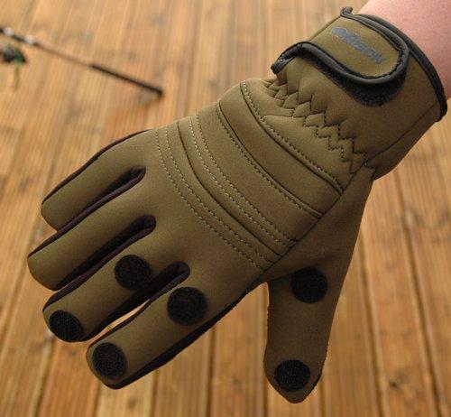 new-bison-neoprene-gloves-medium-folding-fingers-fishing-shooting