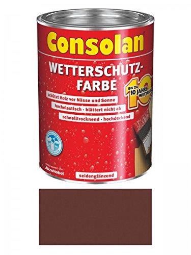 Preisvergleich Produktbild Consolan Wetterschutzfarbe 2,5 Liter, braun Nr. 208