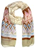 Lovely Lauri Damen Tuch Batik Muster Pastell Beige