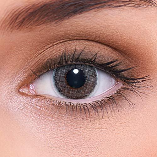 Stark deckende natürliche graue Kontaktlinsen farbig