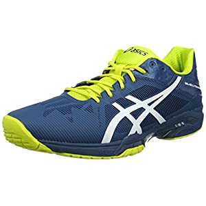ASICS Herren Gel-Solution Speed 3 Tennisschuhe, grau, 42,5 EU