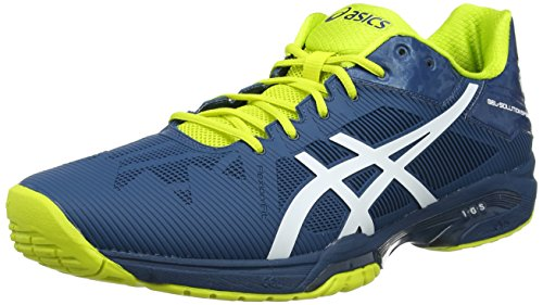 ASICS Gel-Solution Speed 3, Scarpe da Tennis Uomo, Blu (Ink Bluewhitesulphur Spring 4501), 44.5 EU