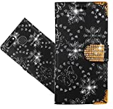 Blackview A7 Pro Coque, FoneExpert® Etui Housse Coque en Cuir Bling Diamond Portefeuille Wallet Case Cover Pour Blackview A7 Pro
