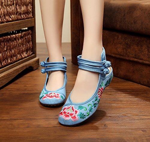 Desy Chaussures Brodées, Lin, Rideaux Simples, Style Ethnique, Chaussures Femme, Mode, Confortable, Sandales Jaunes