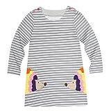 JERFER Baby Kleinkind-Mädchen Langarm Herbst Karikatur Prinzessin T-Shirt Kleid 2-6T (G, 5T)