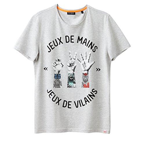 Kaporal Mann Tshirt Quotcavidquot Grau Meliert