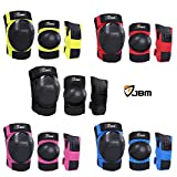 JBM Youth Adult Inline Roller Skating Biking Knee Pads Elbow Pads Wrist Guards Protective Gear Set for Cycling Scooter Skateboard BMX Mountain Bike Rollerblade Extreme Sports (Yellow, Adult) - JBM international - amazon.co.uk