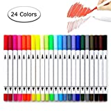 Watercolour Brush Pens, Beupro Bullet Journal Dual Tip Brush Pens Art Markers Felt