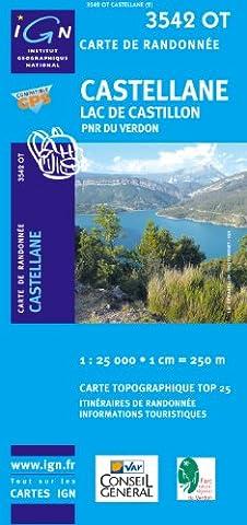 Castellane/Lac De Castillon GPS: Ign3542ot