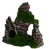 Mimgo resina ponte nascondere cave di muschio Fish Tank Decor acquario Rockery ornamento