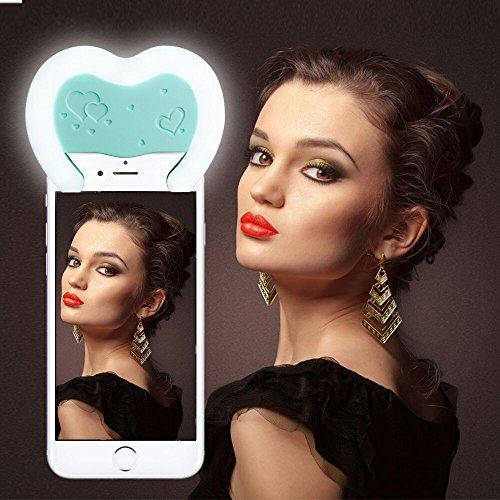 Reacher Selfie Luce Anello Flash Macro Ring Light Supplementare di Illuminazione Notturna per iPhone Samsung HTC Nokia iPad LG Motorola e Altri Smartphone (Blu)