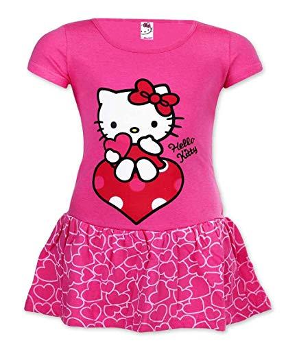 Mädchen Offiziell Lizenzierte Hallo Kitty Cotton-Kostüm-Kleid Alter 2 ()