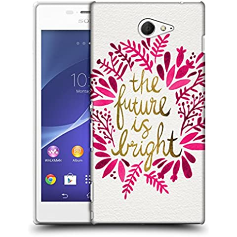 Official Cat Coquillette Future is Bright Pink Quotes Typography 1 Hard Back Case for Sony Xperia