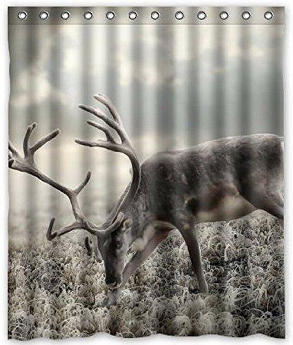 Dream Außerhalb Custom eine Art Hirsch Wasserdicht Badezimmer Stoff Duschvorhang 152,4cm (W) X 182,9cm (H) (April Showers-stoff)