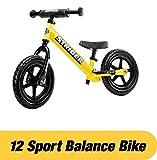 STRIDER 12 Sport Balance Bike, Bicicletta per Bambini, 18 Mesi - 5 Anni, Giallo