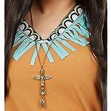 indio cadena dorados indios topacio piedra collar Jefe Collar Joyas Totem Águila collar joyas indios Disfraz Accesorio Disfraz de carnaval para accesorios