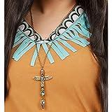 Collier d'Indien doré bijou Collier avec topaze chef indien bijou totem aigle déguisement d'indien Sioux Apache accessoire carnaval costume