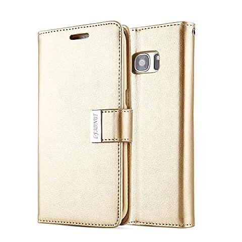 Samsung Galaxy S5 Hülle,L-FADNUT Premium Flip Cover Case PU Leder