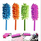 Alexvyan1 Pcs Microfiber Cleaning Duster Extendable,Non-Scratchy & Anti-Static - Essentials Retractable Long-Reach Washable Dusting Brush Kit
