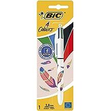 Bic 4 Colours D4Y Stylos-Bille pointe moyenne rétractable Couleurs Classiques - Modèle aléatoire