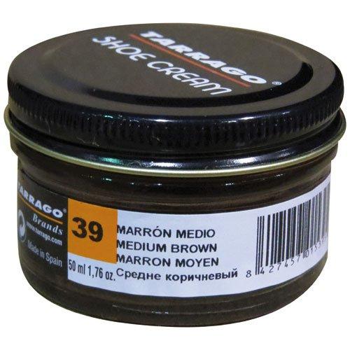 Tarrago Shoe Cream Jar 50 ML, Chaussures ou complément Mixte Adulte, Marron (Medium Brown 39)