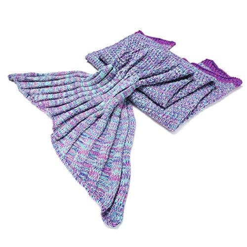 ZEARO Meerjungfrau Fishtail Decke warme Decke Sofa Bett Schlafsäcke Schwanz