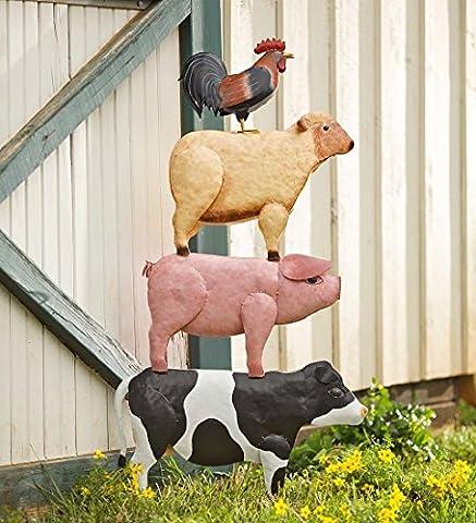 Stacked animaux de la ferme Yard Art