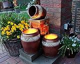 Arnusa Springbrunnen Krüge mit LED-Beleuchtung Gartenbrunnen Kaskade