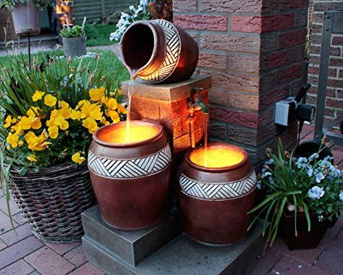 Gartenbrunnen mit LED