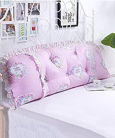 JIANFEI All Cotton Bedside Support Cushion Long Bolster Pillow Soft Bag Pillow Detachable Buttons-Twin Size/Full Size/Queen Size/ King Size bedroom ( Color : 5* , Size : 150*15*55CM )