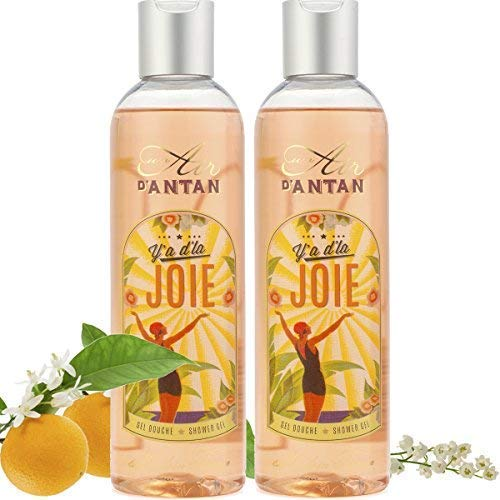 Geschenk Set Parfüm-extrakt (Un Air d'Antan 2er Set - Französisches Vintage Duschgel Joie - Exclusiv Parfum Erfreuliche Duftnoten aus Orangenblüte, Maiglöckchen, Rosen - Für Sie oder als Geschenke - Angebote 2er Pack (2x250ml))