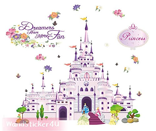 wall-sticker4u-princess-castle-sticker-effect-picture-100-x-85-cm-with-castle-flower-fairytale-fairy