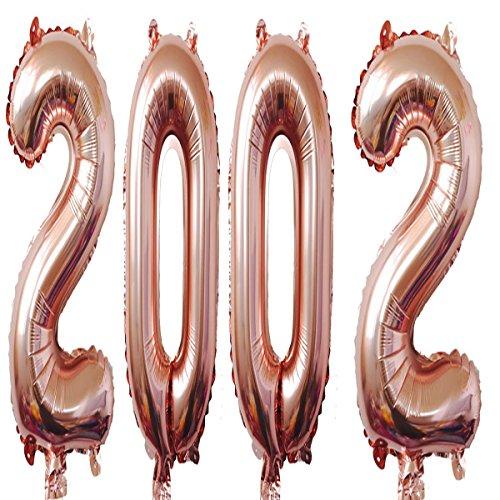 2002Luftballons 101,6cm Rose Giant Jumbo Helium Folie Mylar Luftballons für 16. Geburtstag Party Dekoration