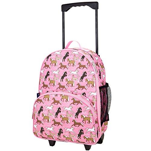 wildkin-maleta-con-ruedas-para-ninos-caballos-rosas-poliester