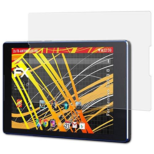 atFolix Schutzfolie kompatibel mit Lenovo Tab 3 8 Bildschirmschutzfolie, HD-Entspiegelung FX Folie (2X)