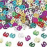 Amscan 9900464Coriandoli metallizzati, motivo: numero 60