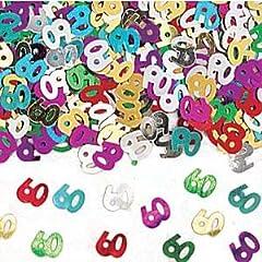Idea Regalo - Amscan 9900464Coriandoli metallizzati, motivo: numero 60